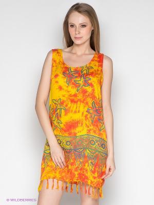 Платье Coline. Цвет: оранжевый