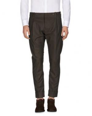 Повседневные брюки MESSAGERIE. Цвет: темно-зеленый
