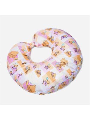 Подушка BabyJoy Мишки-малышки, 70х30 БИОСОН. Цвет: бежевый