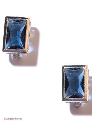 Серьги Lovely Jewelry. Цвет: серебристый, синий