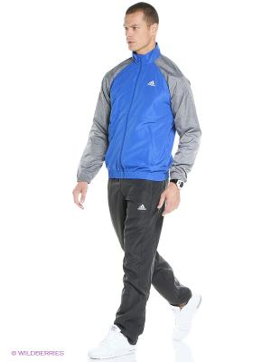 Спортивный костюм TS BASIC Adidas. Цвет: синий, темно-серый