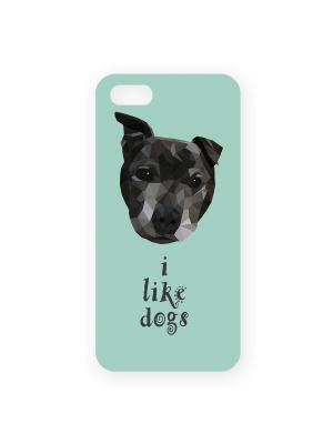 Чехол для IPhone 5 I like dogs Mitya Veselkov. Цвет: голубой