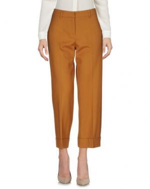 Повседневные брюки TRUE ROYAL. Цвет: желто-коричневый