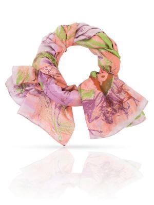 Палантин MICHEL KATANA`. Цвет: серо-зеленый, лиловый, персиковый