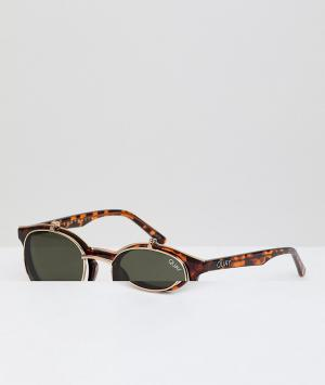 Quay Australia Круглые солнцезащитные очки в черепаховой оправе X Sofi. Цвет: коричневый