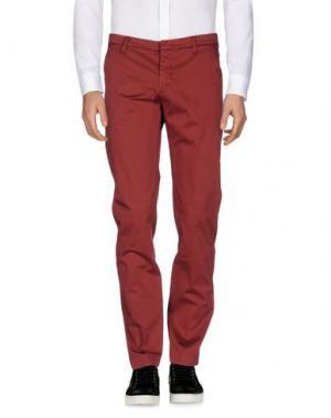 Повседневные брюки GABARDINE. Цвет: красно-коричневый
