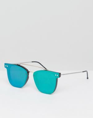 Spitfire Круглые солнцезащитные очки с зелеными зеркальными стеклами F. Цвет: зеленый