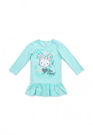 Платье PlayToday. Цвет: голубой