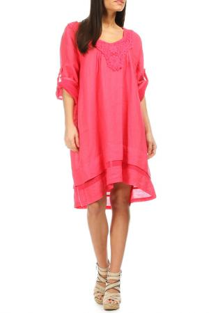 Платье Laklook. Цвет: розовый