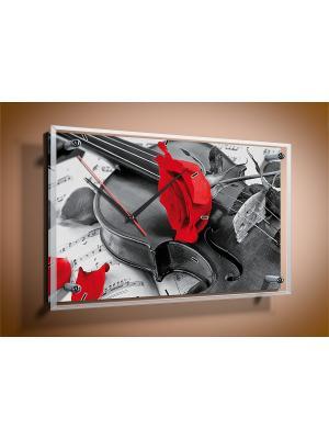 Настенные часы Скрипка PROFFI. Цвет: белый, красный, серый, черный