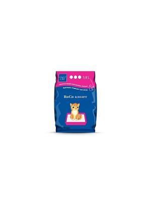 Наполнитель ВиСи Клозет, силикагель для котят (0,5-2,0 мм). 3,8 л. Клозет. Цвет: светло-коралловый