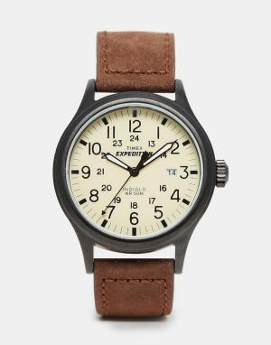 Timex Часы с замшевым коричневым ремешком Originals T49963. Цвет: коричневый