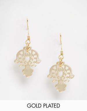 Finchittida Маленькие золотые серьги Thala. Цвет: золотой