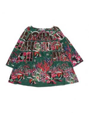 Блузка CUSTO GROWING. Цвет: темно-зеленый