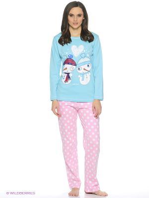 Пижама ROLY POLY. Цвет: голубой, бледно-розовый