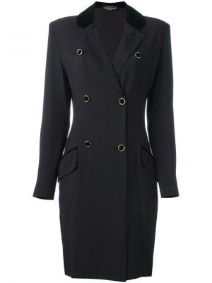 Двубортное пальто Louis Feraud Vintage. Цвет: чёрный