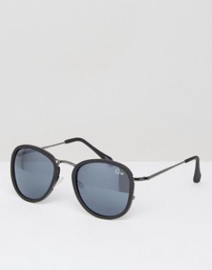 Quay Australia Круглые солнцезащитные очки Odyssey. Цвет: черный