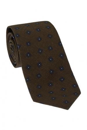 Шерстяной галстук CESARE ATTOLINI. Цвет: коричневый