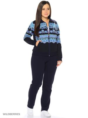 Домашний костюм Nicole collection. Цвет: темно-синий, голубой, фиолетовый