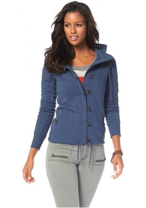 Куртка с начесом Flashlights. Цвет: серый
