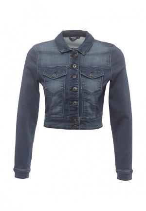 Куртка джинсовая Only. Цвет: синий