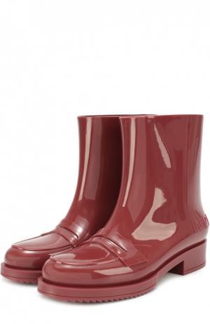 Резиновые сапоги с перемычкой N21#Kartell. Цвет: бордовый