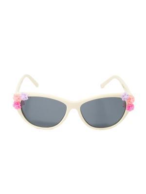 Солнцезащитные очки Mitya Veselkov. Цвет: белый