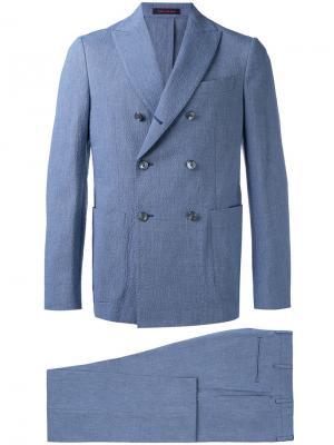 Двубортный костюм The Gigi. Цвет: синий