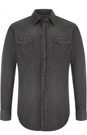 Джинсовая рубашка на кнопках Polo Ralph Lauren. Цвет: темно-серый