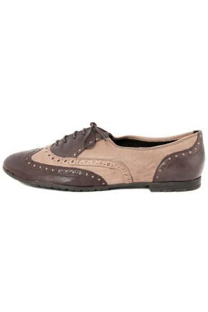 Туфли PAOLA FERRI. Цвет: коричневый