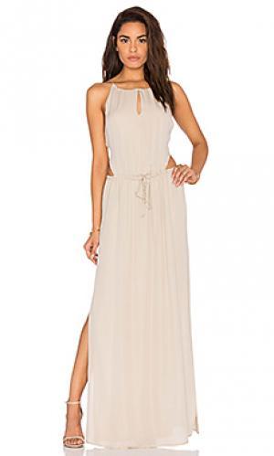 Вечернее платье lauren Rory Beca. Цвет: беж