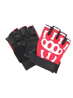 Перчатки спортивные Eleon. Цвет: черный, красный, белый