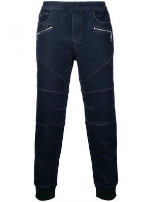 Повседневные брюки Loveless. Цвет: синий
