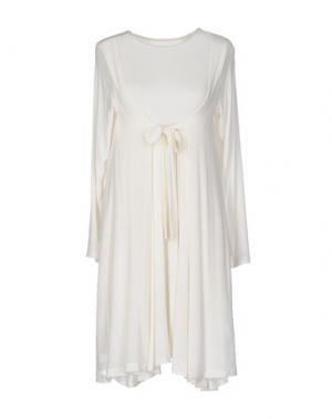 Короткое платье CORINNA CAON. Цвет: слоновая кость
