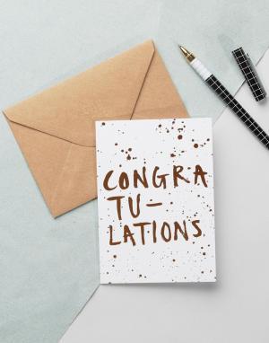 OHH DEER Поздравительная открытка. Цвет: мульти