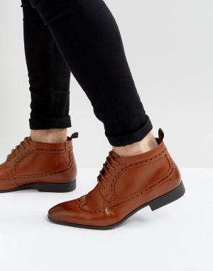 ASOS Светло-коричневые ботинки чукка. Цвет: рыжий