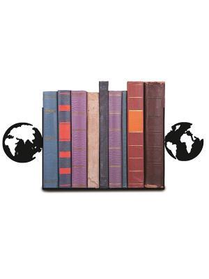 Декоративная подставка-ограничитель для книг Планета Magic Home. Цвет: черный