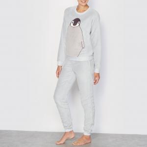 Пижама из флисового трикотажа LOVE JOSEPHINE. Цвет: серый
