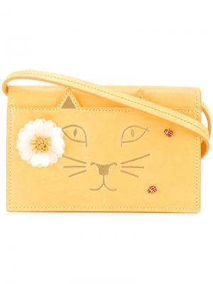 Сумка на плечо Feline Charlotte Olympia. Цвет: жёлтый и оранжевый