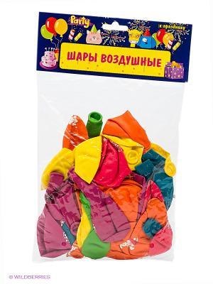 ШАРЫ ВОЗДУШНЫЕ С Днем Рождения! Action!. Цвет: морская волна, малиновый, оранжевый, желтый