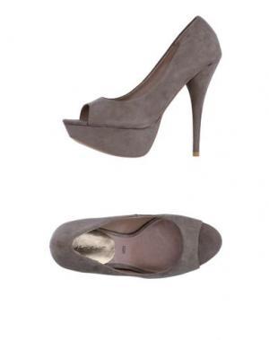Туфли ALBERTO MORETTI. Цвет: свинцово-серый