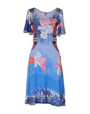 Платье до колена SAVE THE QUEEN. Цвет: синий
