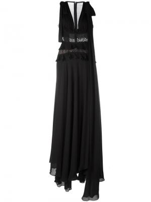 Расклешенное вечернее платье Elie Saab. Цвет: чёрный