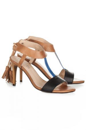 Босоножки EVA LOPEZ. Цвет: brown, blue