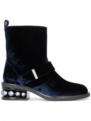 Декорированные ботинки Casati Nicholas Kirkwood. Цвет: синий