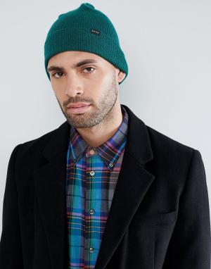 PS Paul Smith Зеленая шапка-бини. Цвет: зеленый