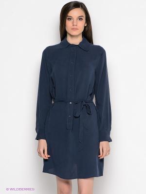 Платье GANT. Цвет: синий