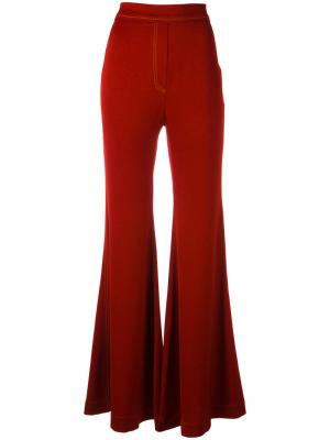 Расклешенные брюки Ellery. Цвет: красный