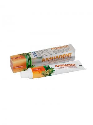 Зубная паста Кардамон и Имбирь Aasha Herbals. Цвет: светло-бежевый