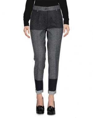 Повседневные брюки PAOLO CASALINI. Цвет: свинцово-серый